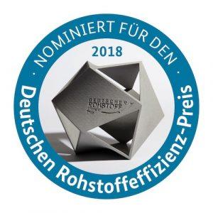 Siegel Nominierung Deutscher Rohstoffeffizienz-Preis 2019